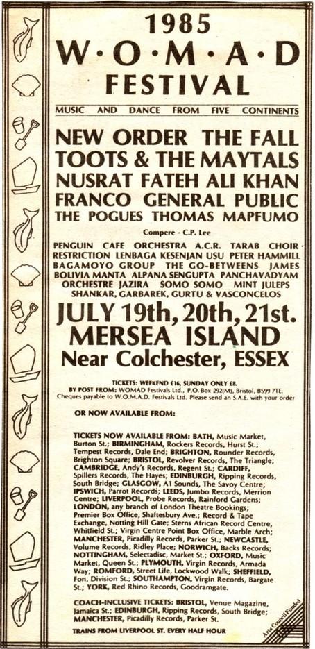Nusrat WOMAD 1985 Conceet Poster