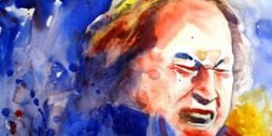 ustad nusrat fateh ali khan oil painting