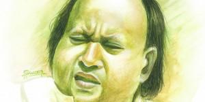 nusrat Fateh ali khan painting
