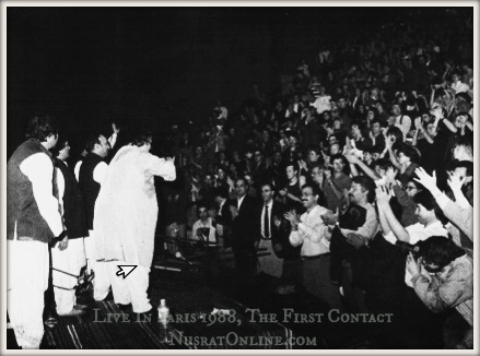 Nusrat Fateh Ali Khan Live In Paris 1988, The First Contact
