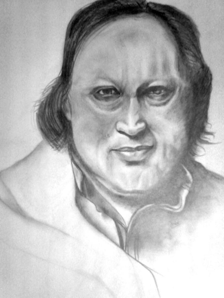 Nusrat Fateh Ali Khan Sketch