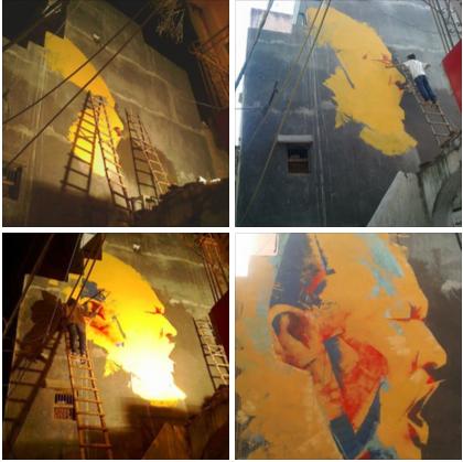 Nusrat_biggest_WAll_Painting by Nikunj Prajapati 2