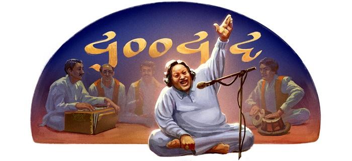 Nusrat Fateh Ali Khan Google Doodle
